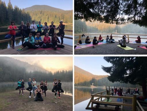 Йога на озере Синевир