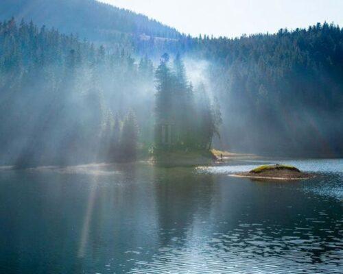 Йога-тур в Карпатах, озеро Синевир